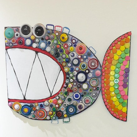 Lid Fish - Recycled Lids