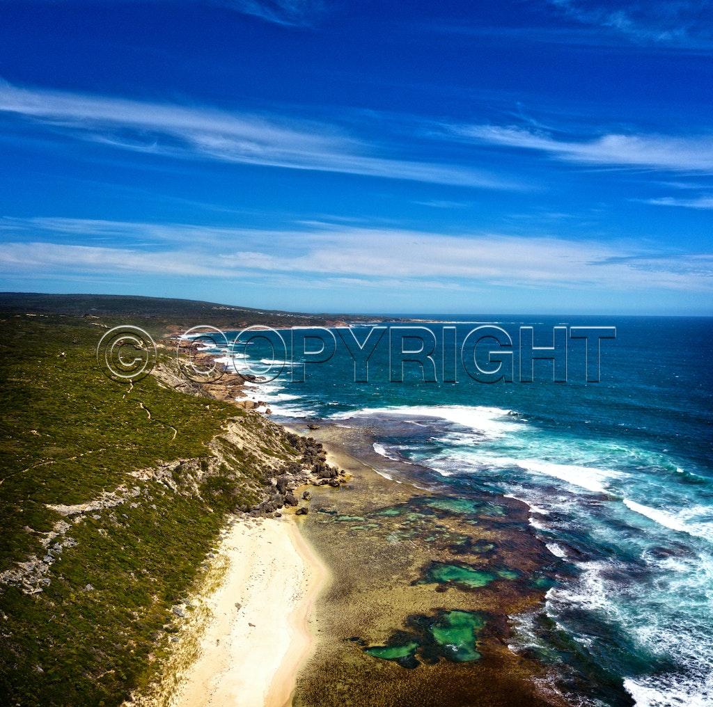 Aerial coastline 0382