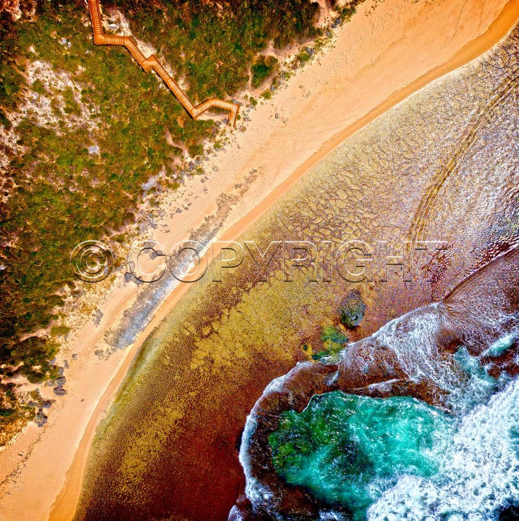 Aerial coastline 0391 sq