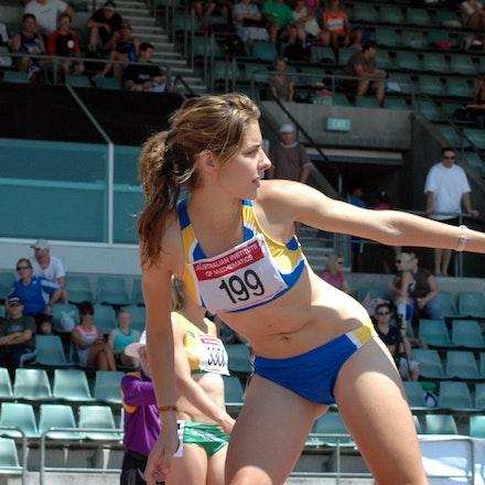 Selma Kajan - Selma Kajan waiting to receive the baton in the 4x400m at the 2007 NSW Relay Championships.