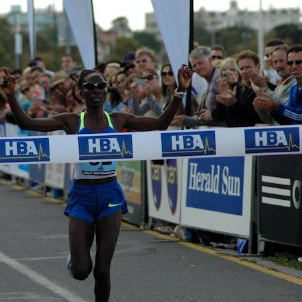 Catherine Ndereba - Twice silver medallist in the Olympic marathon Catherine Ndereba took out the inaugural Great Australian Run 15km road race in 2008...