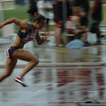 Tracey Morton - Tracey Morton runs the lead off leg for the NSW U18 4x100m relay team at the 2007 Australian All School Championships in Sydney. Despite...