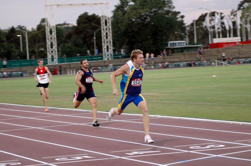 Joel Milburn - Joel Milburn takes out the men's 400m at the 2007 Zatopek meet.