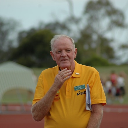 Geoff Martin - Long serving athletics official Geoff Martin during the 2008 Briggs Athletics Classic.