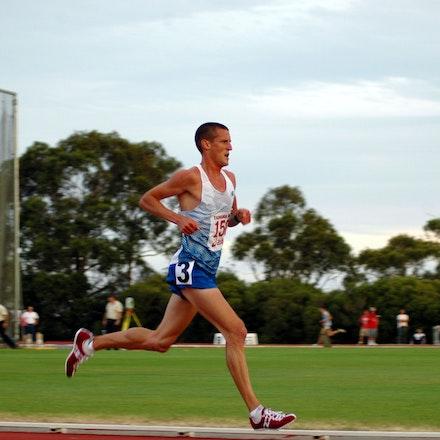 Collis Birmingham - Collis Birmingham on his way to victory in the 5000m at the 2008 Briggs Athletics Classic.