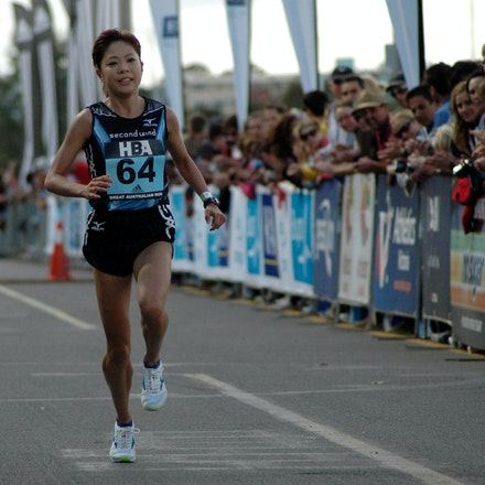 Kaori Yoshida - Japan's Kaori Yoshida finishing fourth at the 2008 Great Australian Run.