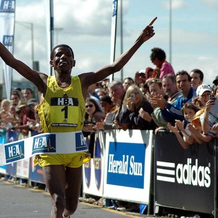 Haile Gebrselassie - 2008 Great Australian Run victor Haile Gebrselassie.