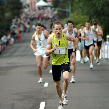 Balmoral Burn 2008 - The Balmoral Burn is a 420m race up the steep hill of Awaba Street, Mosman.