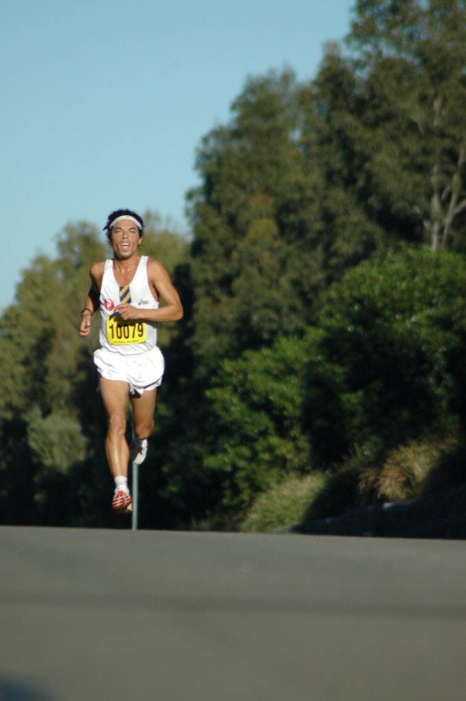 Russell Dessaix-Chin - Russell Dessaix-Chin on his way to taking out the Sydney Striders/Athletics NSW 10km race at Sydney Olympic Park in 2008, which...