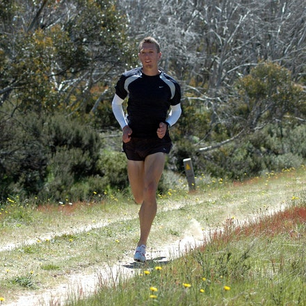 Jeremy Roff - Jeremy Roff completes some strides following a training session at Falls Creek in December 2008.