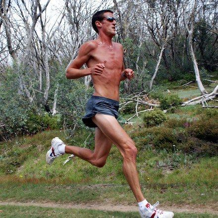 The Colonel - Collis Birmingham strides out during a training run at Falls Creek in December 2008.