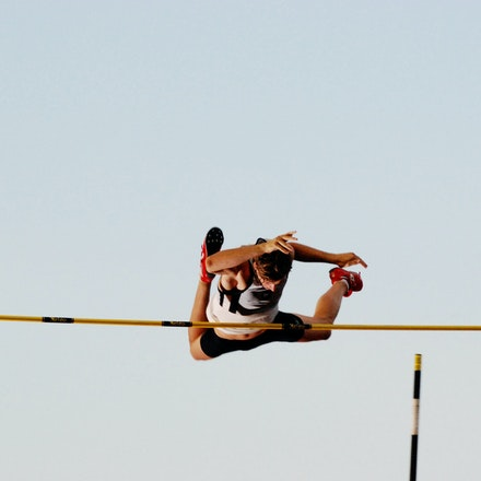 Blake Lucas - Blake Lucas clears the bar in the pole vault at the 2009 Sydney Track Classic.