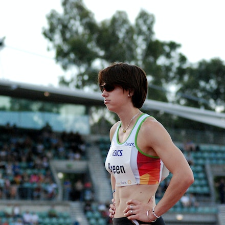 Melissa Breen - 18-year-old Melissa Breen recovers after running the first leg for the victorious Australian 4x100m team at the 2009 Sydney Track Classic.