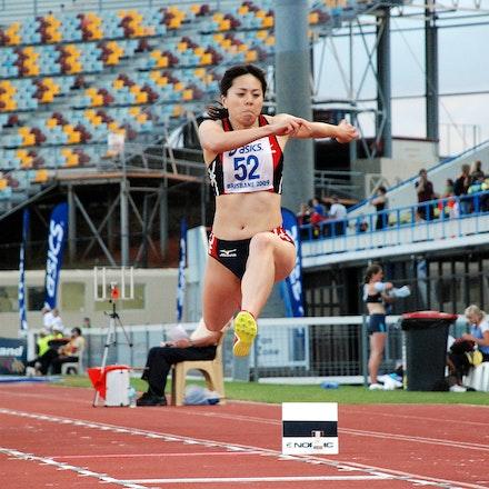 Fumiyo Yoshida - Japan's Fumiyo Yoshida finished second in the triple jump at the 2009 Australian Athletics Championships with a leap of 13.02m (+1.3).