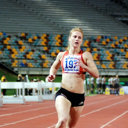 Crystal Attenborough - Northern Territory's Crystal Attenborough cruised through the heats of the 100m at the 2009 Australian Athletics Championships with...