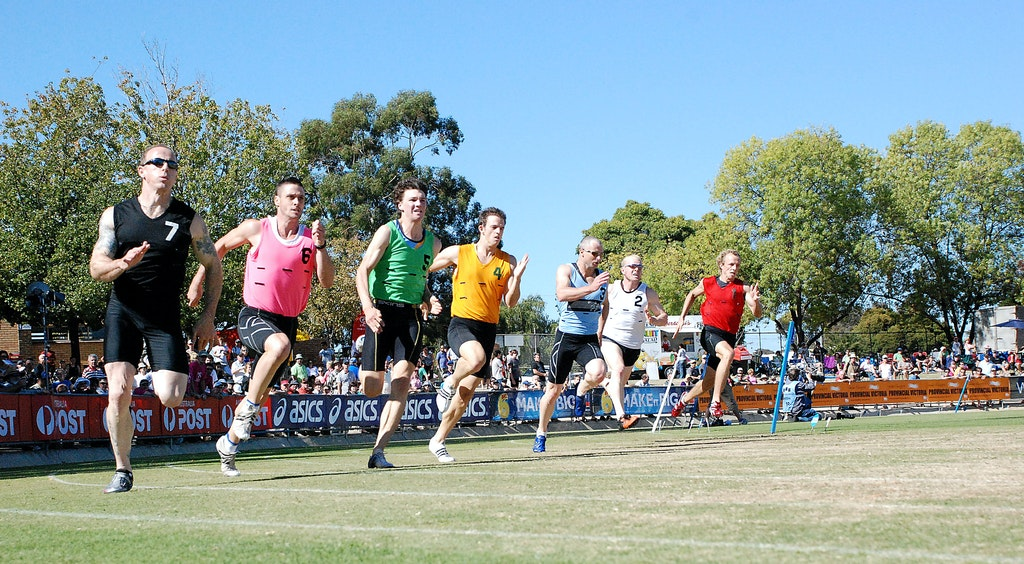 Stawell Gift 2009 - Competitors in the heats of the Jack Donaldson 200m at the 2009 Stawell Gift.