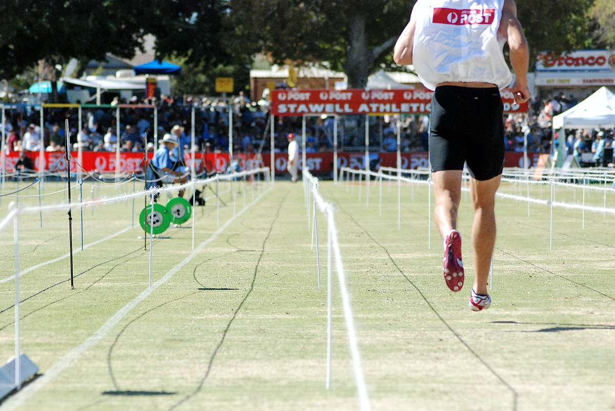 Stawell Gift 2009 - A view from the back marker's lane prior to the start of the Stawell Gift.