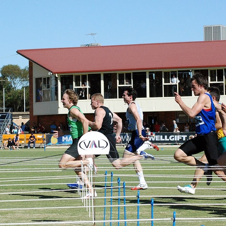 Stawell Gift 2009 - The field in the final of the Arthur Postle 70m at the 2009 Stawell Gift.
