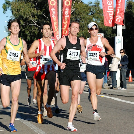 Athletics NSW / Sydney Striders Road Race - Matthew Cox (3353, 14th in 31:56), Robin Whiteley (3213, 17th in 32:14) and Nick Bromley (3325, 19th in 32:25)...