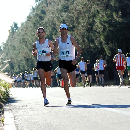 Athletics NSW / Sydney Striders Road Race - Scott Westcott and Anthony Haber broke away from the field early in the race. Westcott went on to win in 29:54,...