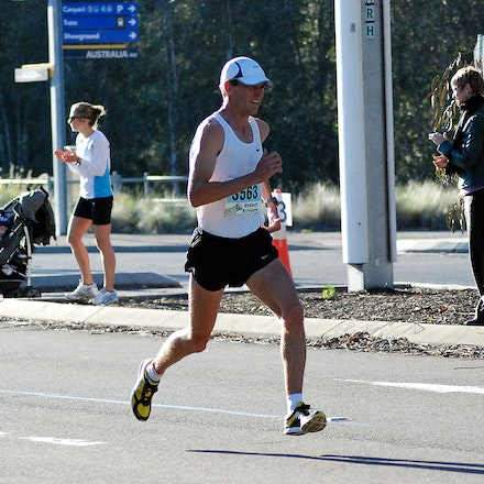 Scott Westcott - Scott Westcott on his way to victory in the NSW Road Championships held in conjunction with the Athletics NSW / Sydney Striders 10km in...