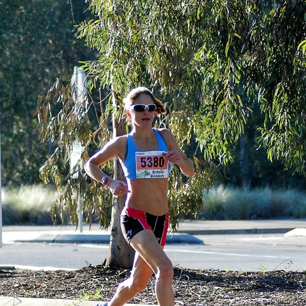 Verity Tolhurst - Verity Tolhurst was the first finisher aged 40+ at the 2009 Athletics NSW / Sydney Striders Road Race, in a time of 37:35.