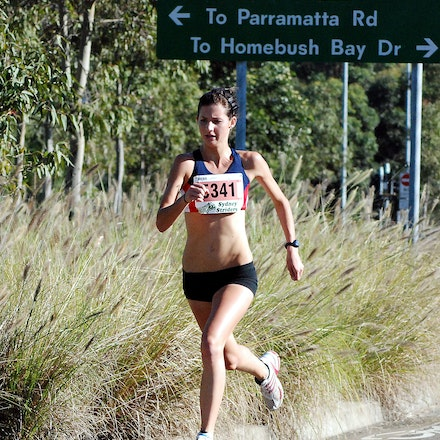 Athletics NSW / Sydney Striders Road Race - World junior representative Chloe Tighe was a clear winner of the junior 5km in a time of 17:02.