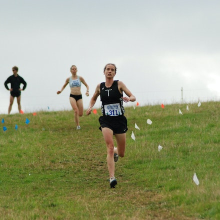 Kathryn Ewels - Kathryn Ewels from Traralgon runs strongly in the women's 4km cross country at Lardner Park in 2009. Ewels finished third in a time of...