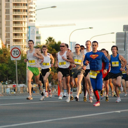 Southern Cross University 10km - The field in the Southern Cross University 10km held in conjunction with the 2009 Gold Coast Marathon. Eventual winner...