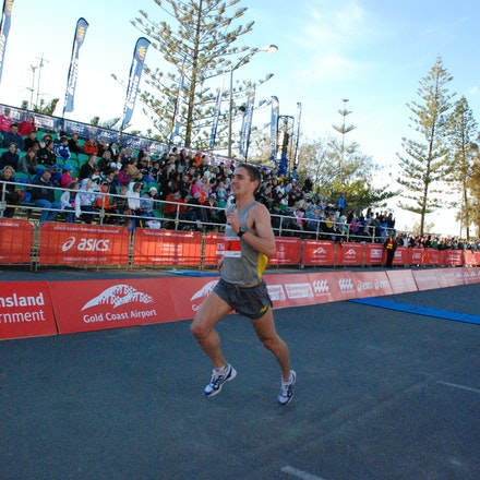 Martin Dent - Martin Dent was third across the line in the 2009 Gold Coast Half Marathon in 62:16.