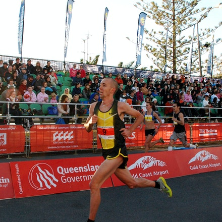 Jeff Hunt - Fourth placegetter in the 2009 Gold Coast Half Marathon, Jeff Hunt, clocked a time of 62:44.