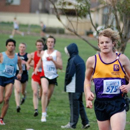 Matt Davy - Matt Davy in action in the 2009 Victorian 12km Cross Country Championships at Bundoora Park.