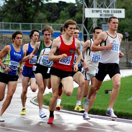 Victorian Milers Club 800m - Jordan Williamsz (far left) ran on to take victory in the 800m A race in 1:50.81 at the Victorian Milers Club meet held in...