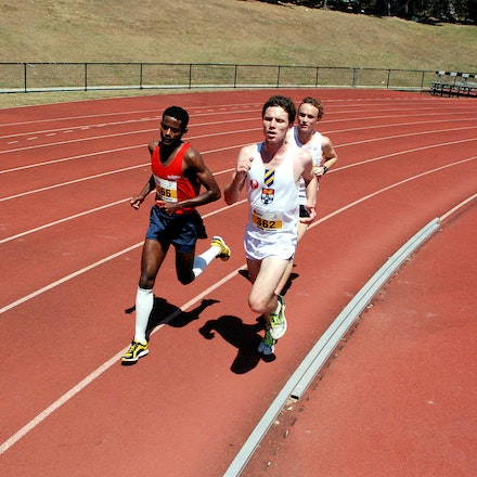 Australian University Games - Michael Harrison from the University of Sydney leads the way in the 10000m at the 2009 Australian University Games on the...
